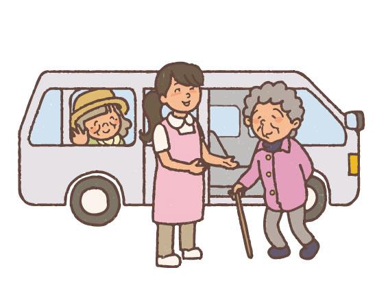 ご自宅まで安全に車でお送りします|リハビリデイ SKiP(スキップ)